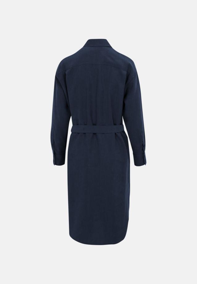 Twill Midi Dress made of tencel blend in Dark blue |  Seidensticker Onlineshop
