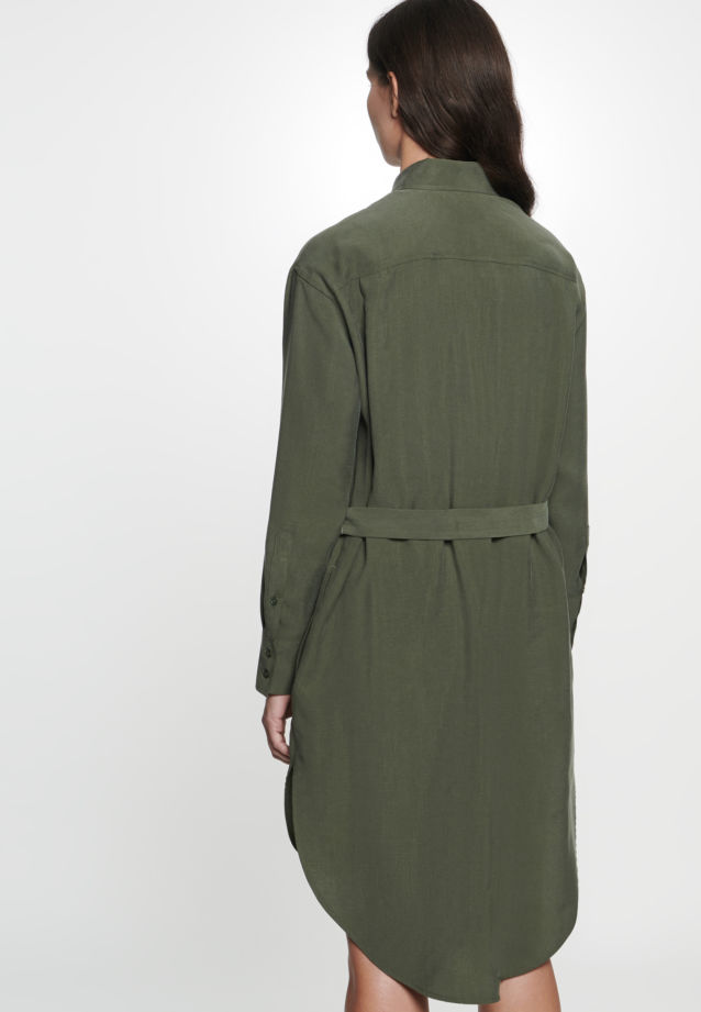 Short arm Twill Dress made of 90% Lyocell 10% Polyethylen in Green |  Seidensticker Onlineshop