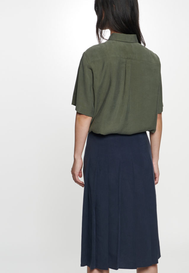 Twill Midi Skirt made of tencel blend in Dark blue |  Seidensticker Onlineshop