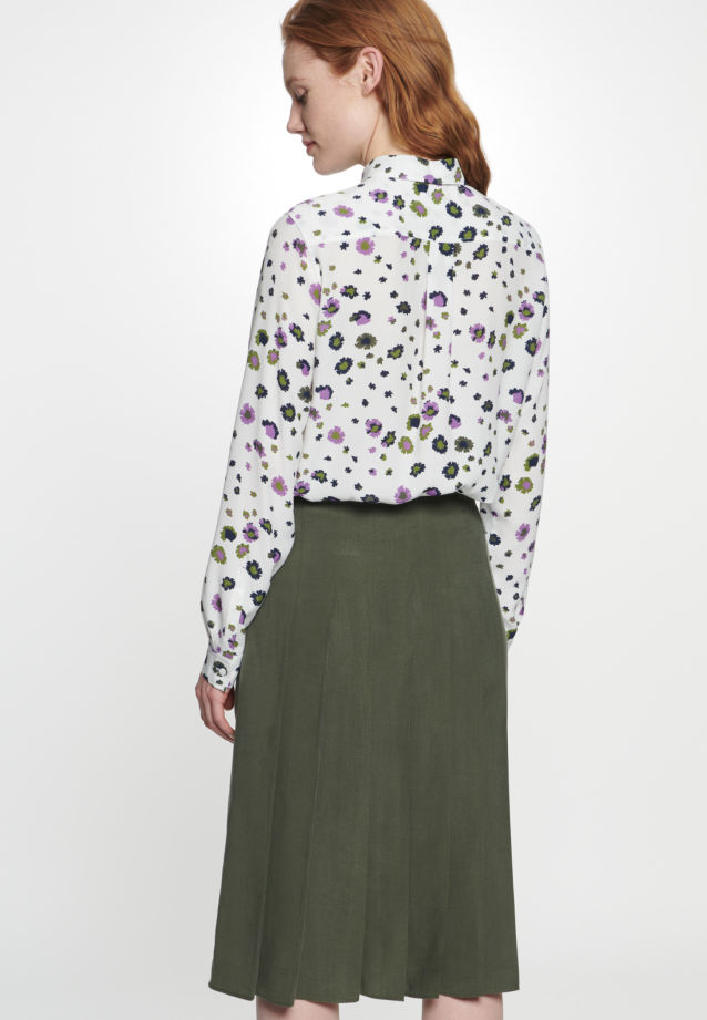 Twill Midi Skirt made of tencel blend in Green |  Seidensticker Onlineshop