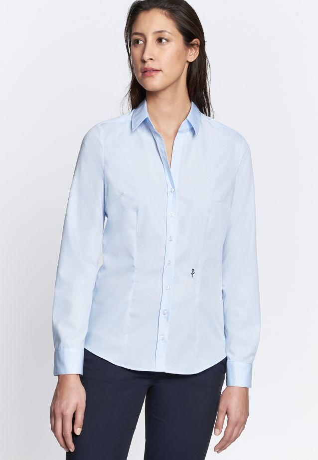 Non-iron Fil a fil Shirt Blouse made of 100% Cotton in Hellblau |  Seidensticker Onlineshop