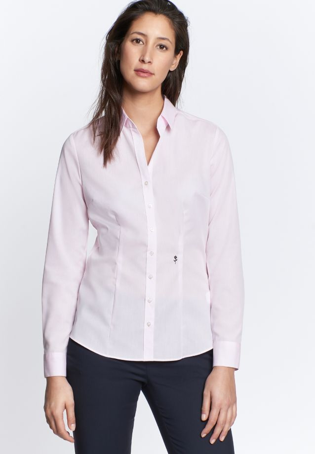 Non-iron Fil a fil Shirt Blouse made of 100% Cotton in rosa |  Seidensticker Onlineshop