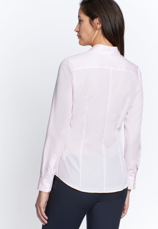 Non-iron Fil a fil Shirt Blouse made of 100% Cotton in Pink |  Seidensticker Onlineshop