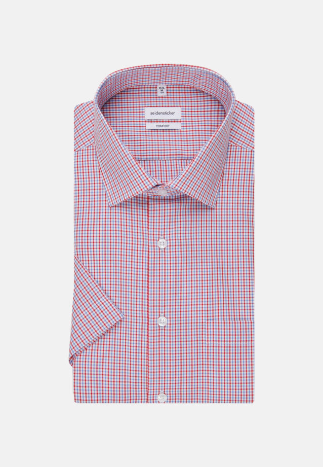 Non-iron Poplin Short arm Business Shirt in Comfort with Kent-Collar in Red |  Seidensticker Onlineshop