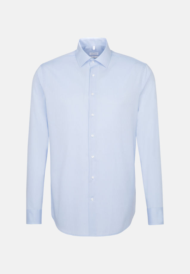 Non-iron Fil a fil Business Shirt in Slim with Kent-Collar in Light blue |  Seidensticker Onlineshop