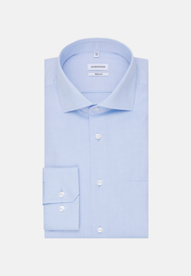 Non-iron Oxford Business Shirt in Regular with Kent-Collar in Light blue |  Seidensticker Onlineshop