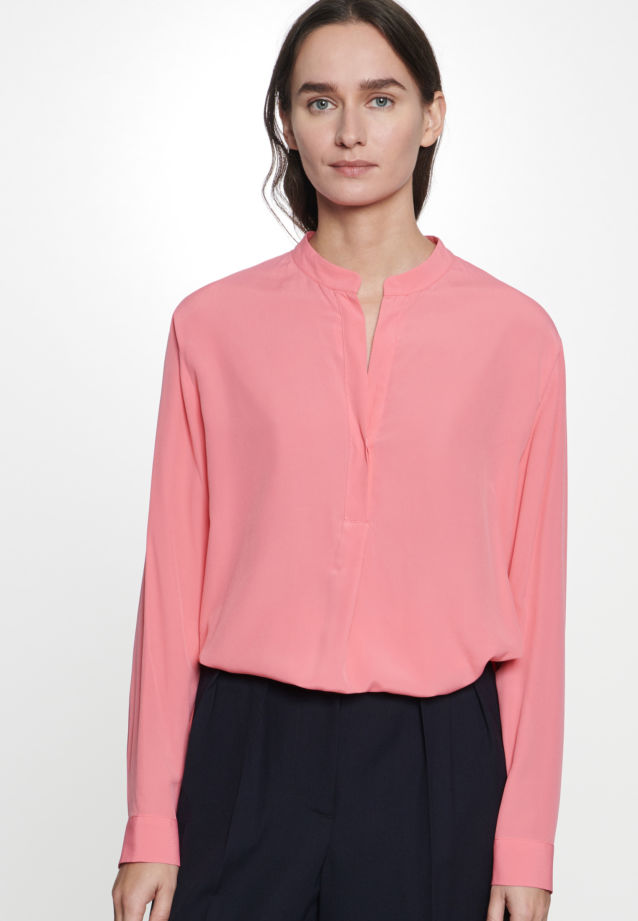 Twill Slip Over Blouse made of 100% Viscose in Pink |  Seidensticker Onlineshop