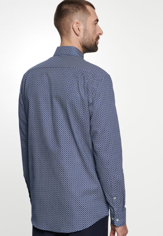 Easy-iron Structure Business Shirt in X-Slim with Kent-Collar in Medium blue |  Seidensticker Onlineshop