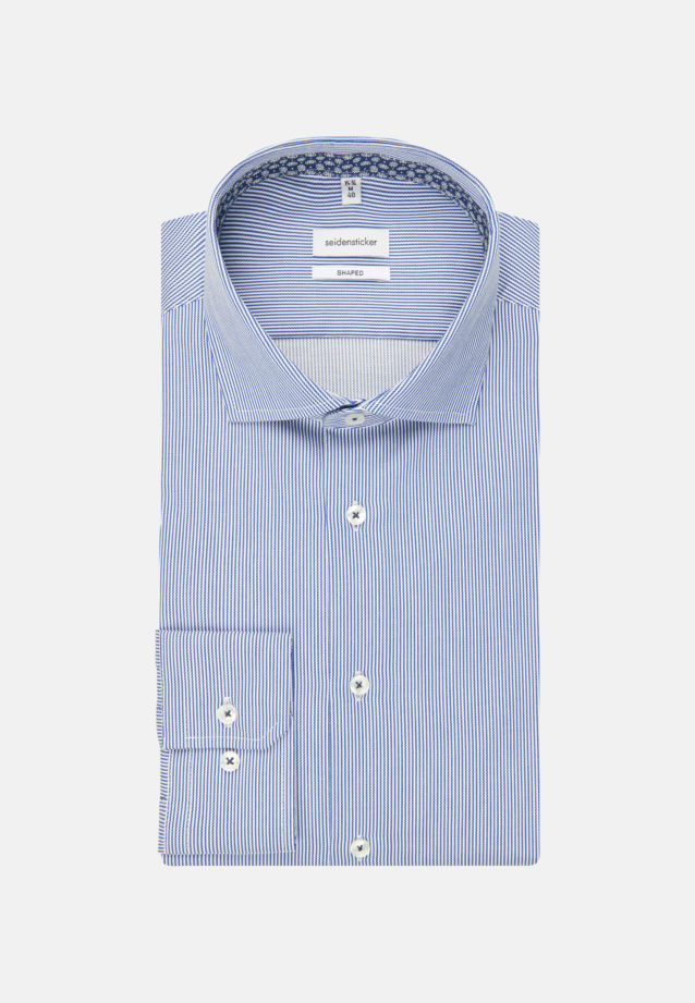 Easy-iron Twill Business Shirt in Shaped with Kent-Collar and extra long arm in Medium blue |  Seidensticker Onlineshop