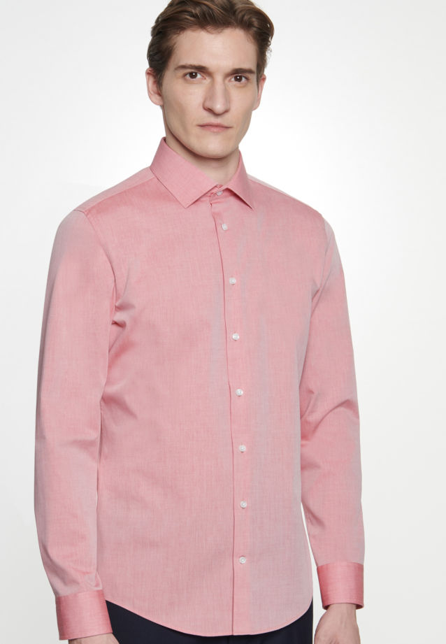 Non-iron Chambray Business Shirt in X-Slim with Kent-Collar in Red |  Seidensticker Onlineshop