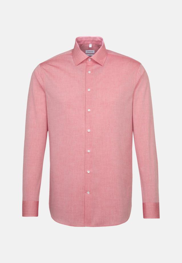 Bügelfreies Chambray Business Hemd in X-Slim mit Kentkragen in Rot |  Seidensticker Onlineshop