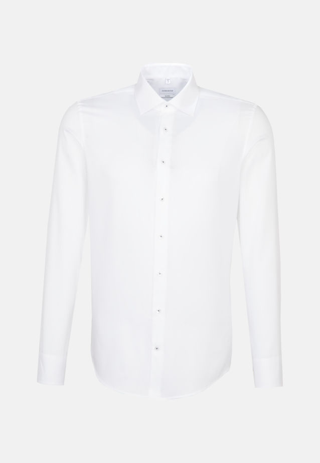 Non-iron Structure Business Shirt in Shaped with Kent-Collar and extra long arm in White |  Seidensticker Onlineshop
