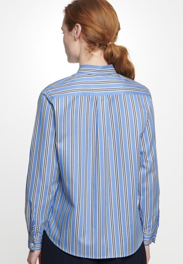 Twill Shirt Blouse made of 100% Cotton in Medium blue |  Seidensticker Onlineshop