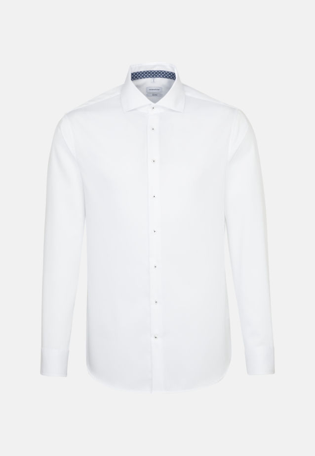 Non-iron Twill Business Shirt in Shaped with Kent-Collar and extra long arm in White |  Seidensticker Onlineshop