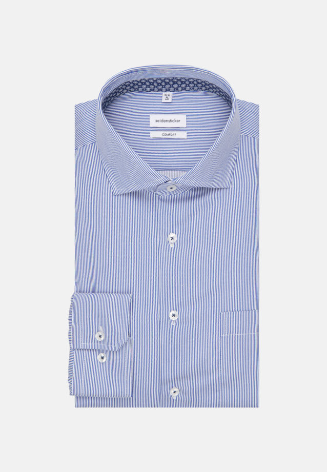 Easy-iron Twill Business Shirt in Comfort with Kent-Collar in Medium blue |  Seidensticker Onlineshop