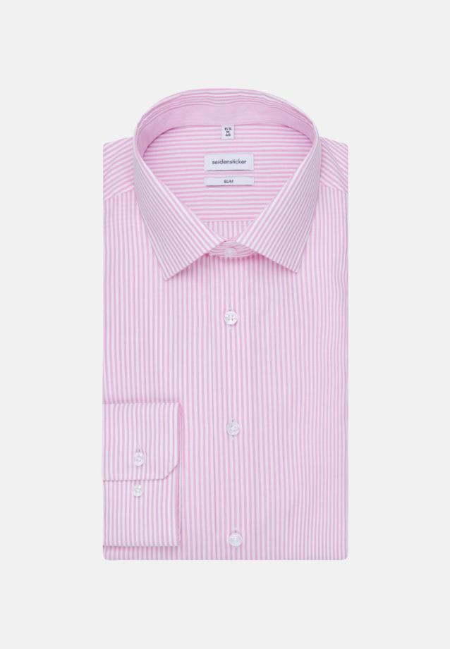 Non-iron Poplin Business Shirt in Slim with Kent-Collar in Pink |  Seidensticker Onlineshop