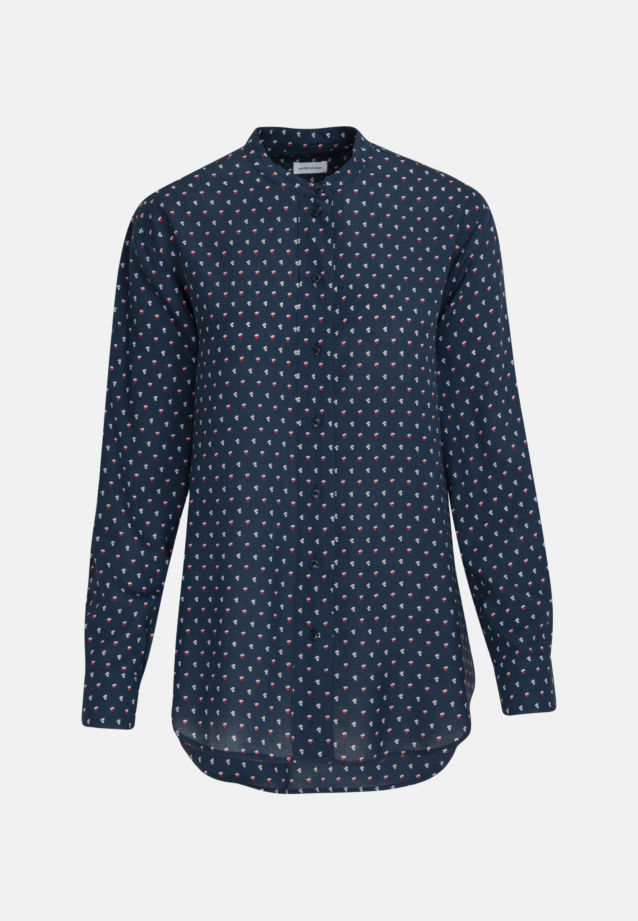 Poplin Stand-Up Blouse made of 100% Viskose in Dark blue |  Seidensticker Onlineshop