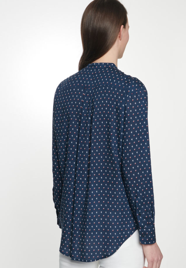 Poplin Stand-Up Blouse made of 100% Viscose in Dark blue |  Seidensticker Onlineshop