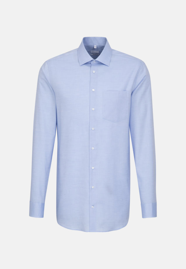 Non-iron Structure Business Shirt in Regular with Kent-Collar and extra long arm in Light blue |  Seidensticker Onlineshop