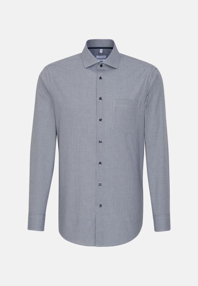 Bügelfreies Popeline Business Hemd in Comfort mit Kentkragen in Dunkelblau    Seidensticker Onlineshop