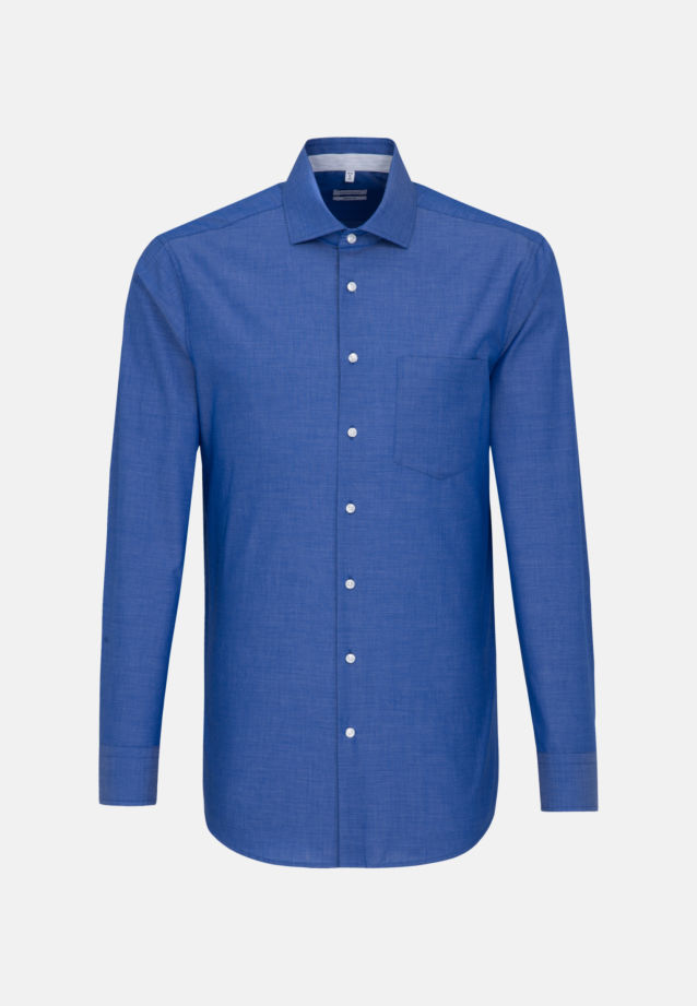 Non-iron Fil a fil Business Shirt in Regular with Kent-Collar in Medium blue |  Seidensticker Onlineshop