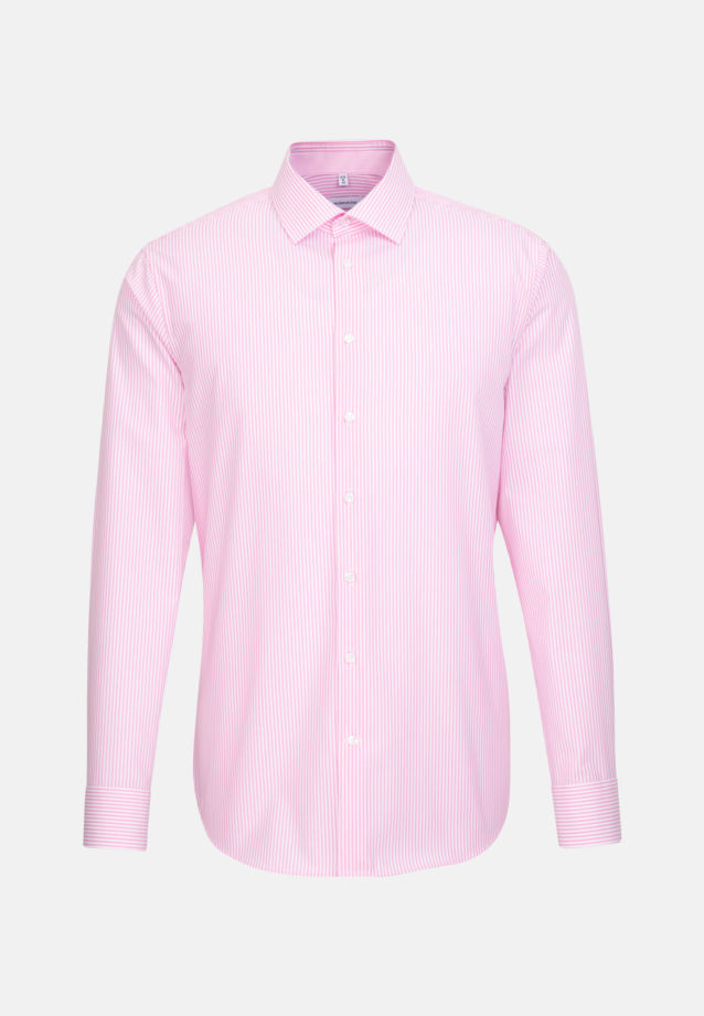 Non-iron Poplin Business Shirt in Shaped with Kent-Collar in Pink |  Seidensticker Onlineshop