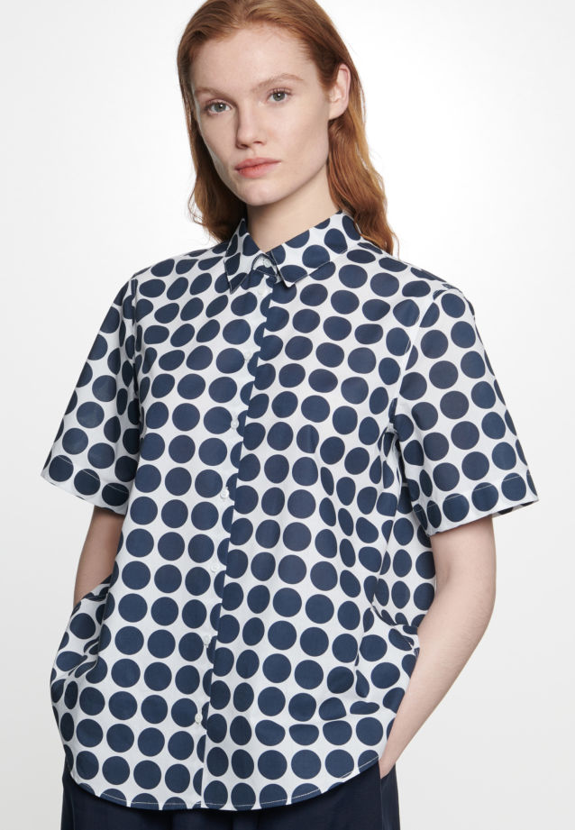 Short arm Voile Shirt Blouse made of 100% Cotton in Ecru |  Seidensticker Onlineshop