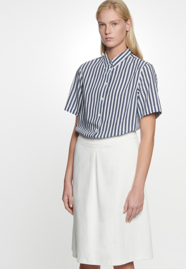 Twill Midi Skirt made of 100% Cotton in Ecru |  Seidensticker Onlineshop