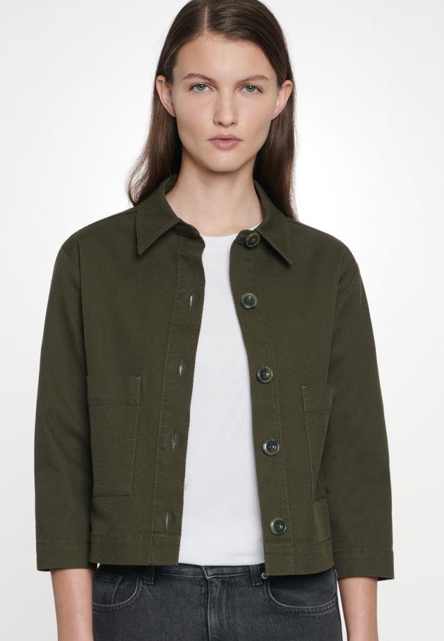 Twill Jacke aus 100% Baumwolle in Grün |  Seidensticker Onlineshop