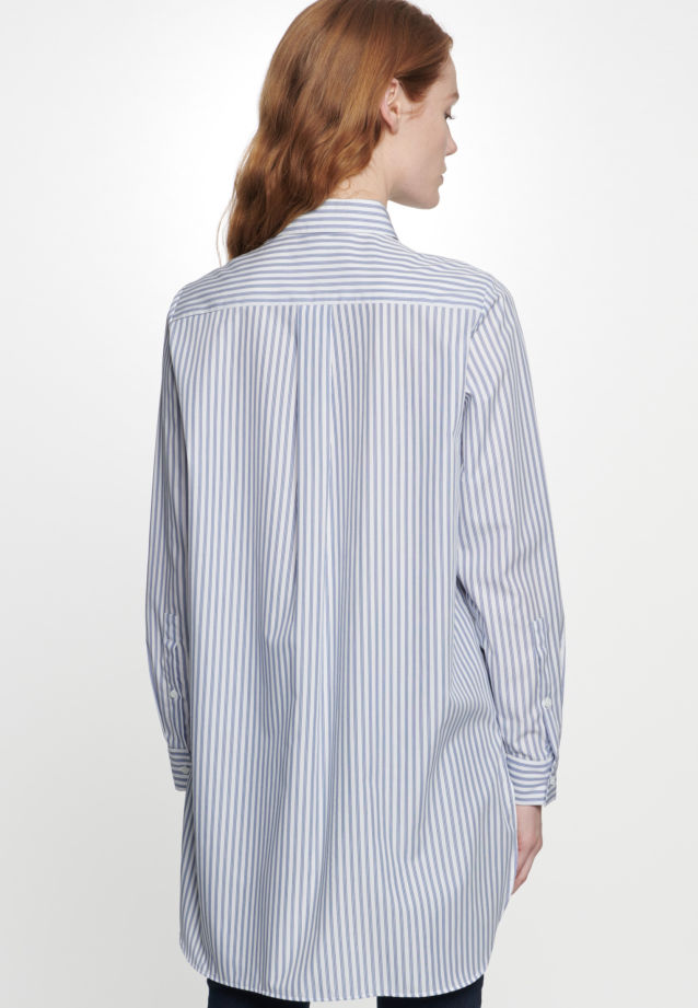 Poplin Long Blouse made of 100% Cotton in Light blue |  Seidensticker Onlineshop