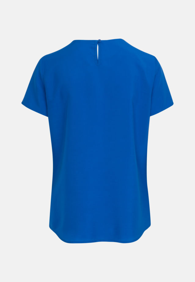 Short arm Voile Shirt Blouse made of 100% Viskose in Medium blue |  Seidensticker Onlineshop
