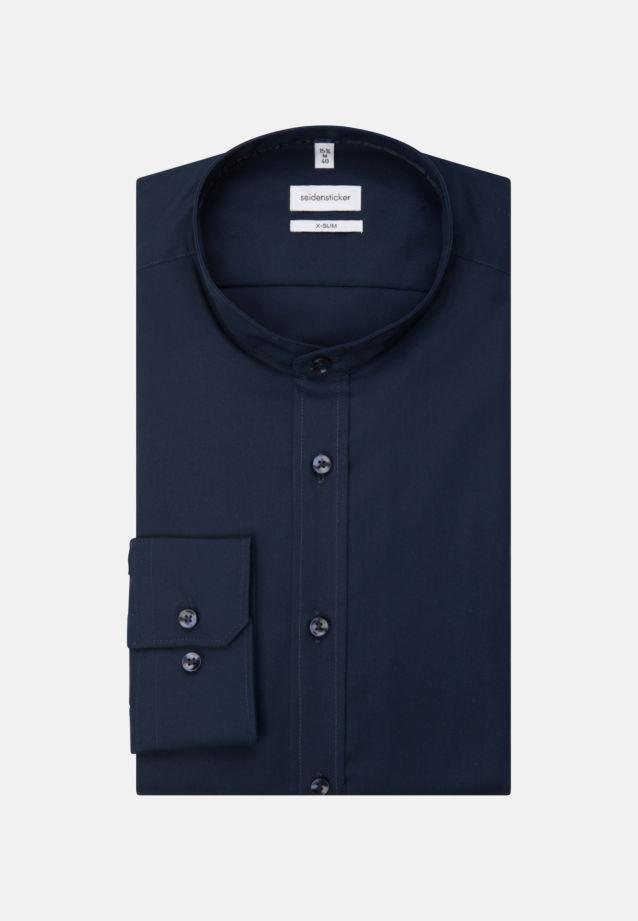 Non-iron Poplin Business Shirt in X-Slim with Stand-Up Collar in Dark blue |  Seidensticker Onlineshop