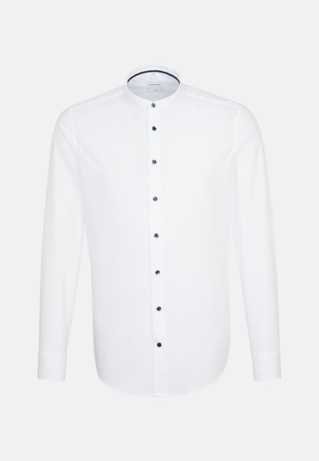 Non-iron Poplin Business Shirt in X-Slim with Stand-Up Collar in White |  Seidensticker Onlineshop
