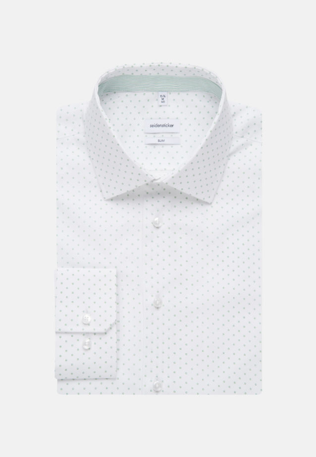Easy-iron Poplin Business Shirt in Slim with Kent-Collar in Green |  Seidensticker Onlineshop