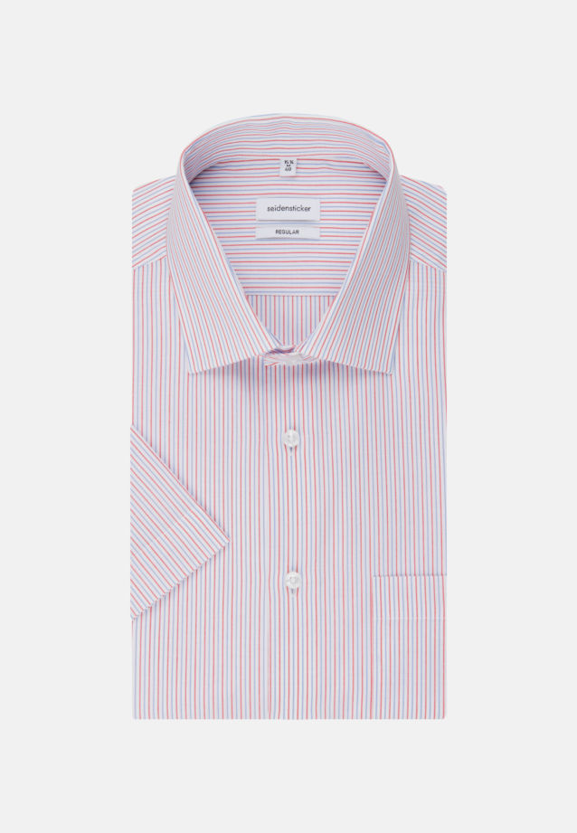 Non-iron Poplin Short arm Business Shirt in Regular with Kent-Collar in Red |  Seidensticker Onlineshop