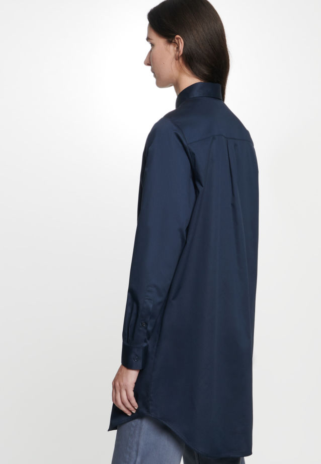Twill Long Blouse made of 100% Cotton in Dark blue |  Seidensticker Onlineshop