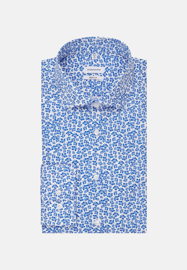 Easy-iron Poplin Business Shirt in Regular with Kent-Collar in Medium blue |  Seidensticker Onlineshop