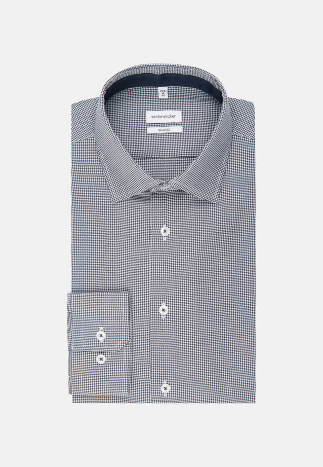 Non-iron Oxford Business Shirt in Shaped with Kent-Collar in Dark blue |  Seidensticker Onlineshop