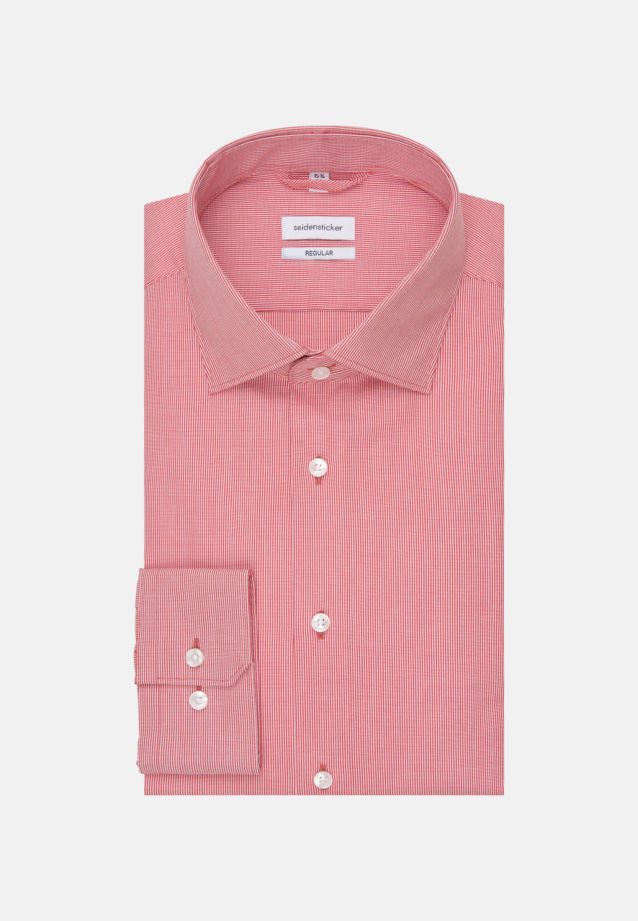 Non-iron Structure Business Shirt in Regular with Kent-Collar in Red |  Seidensticker Onlineshop