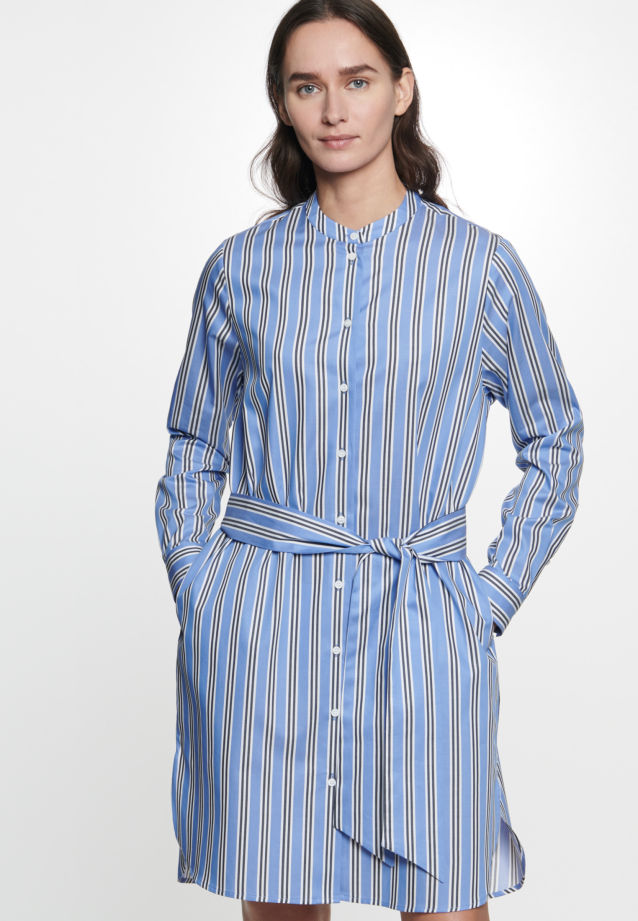 Twill Midi Dress made of 100% Cotton in Medium blue |  Seidensticker Onlineshop