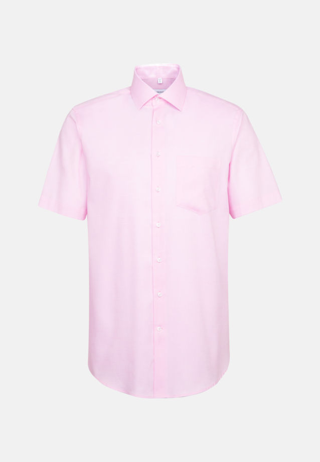 Non-iron Structure Short sleeve Business Shirt in Regular with Kent-Collar in Pink |  Seidensticker Onlineshop