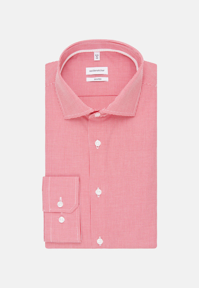 Non-iron Poplin Business Shirt in Shaped with Kent-Collar and extra long sleeve in Red |  Seidensticker Onlineshop