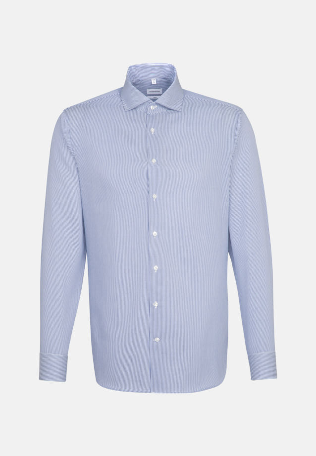 Easy-iron Cotele Business Shirt in Slim with Kent-Collar in Medium blue |  Seidensticker Onlineshop