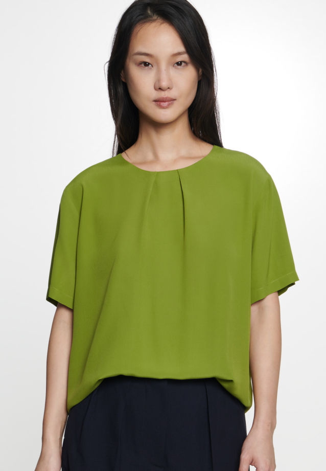 Short sleeve Poplin Shirt Blouse made of 100% Viscose in Green |  Seidensticker Onlineshop
