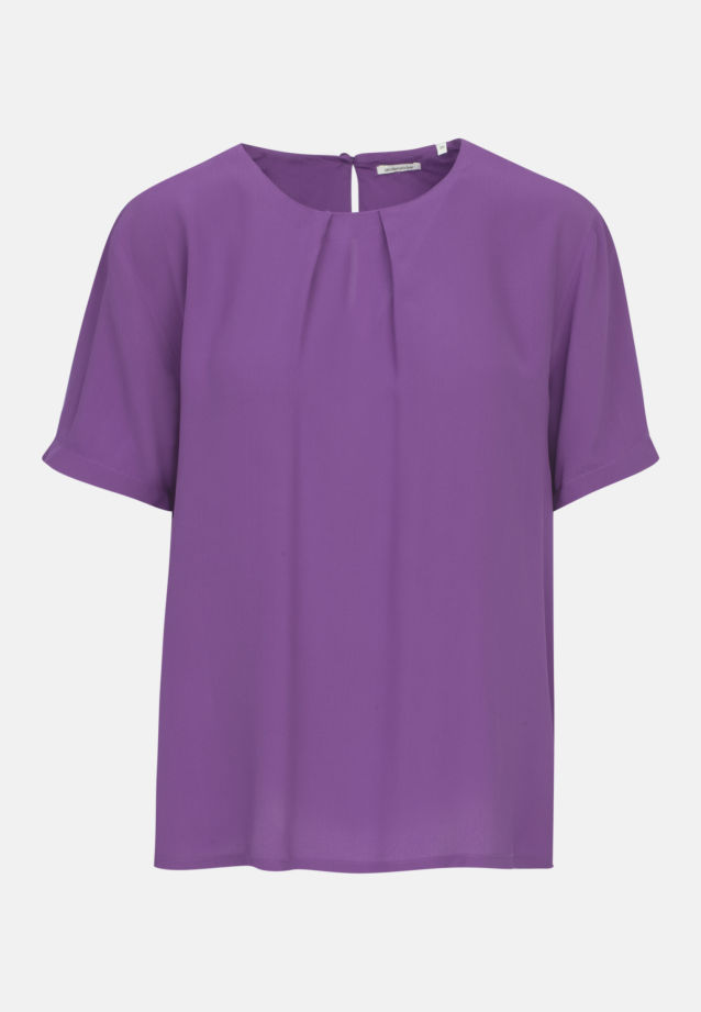 Short sleeve Poplin Shirt Blouse made of 100% Viscose in Purple |  Seidensticker Onlineshop