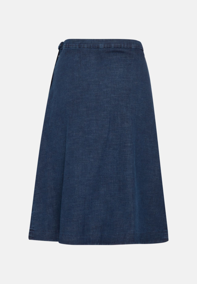 Denim Midi Skirt made of cotton blend in Dark blue |  Seidensticker Onlineshop