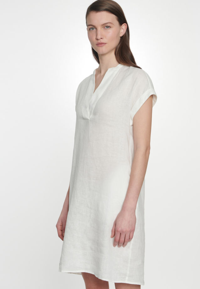 Sleeveless Linen Midi Dress made of 100% Linen in Ecru |  Seidensticker Onlineshop
