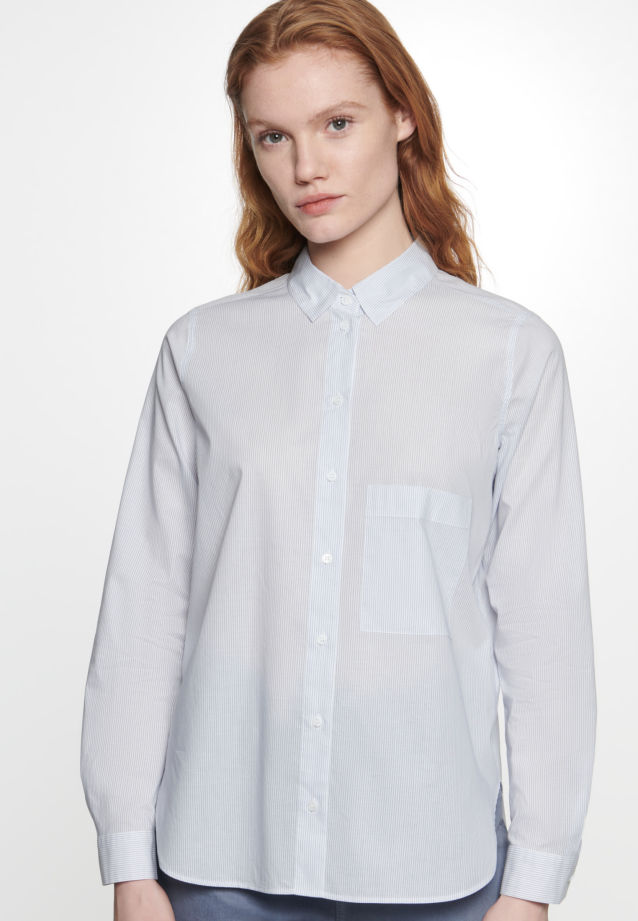 Voile Shirt Blouse made of 100% Cotton in Light blue |  Seidensticker Onlineshop
