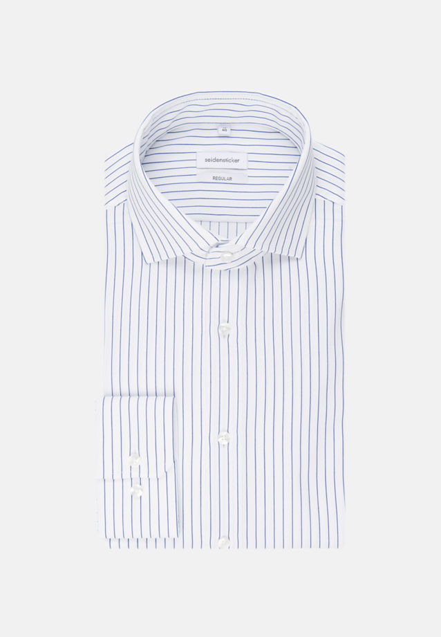 Easy-iron Cotele Business Shirt in Regular with Kent-Collar in Medium blue |  Seidensticker Onlineshop