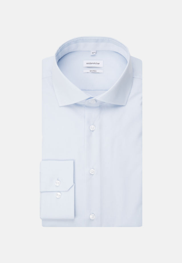Non-iron Fil a fil Business Shirt in Shaped with Kent-Collar in Light blue |  Seidensticker Onlineshop